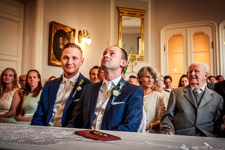 Bräutigam bei der Trauung - fotografiert von Christian Menzel