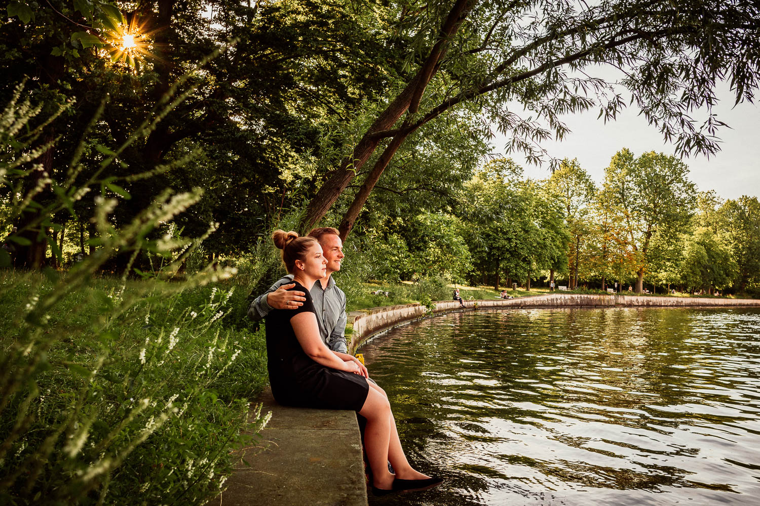 Engagement-Shooting an der Spree