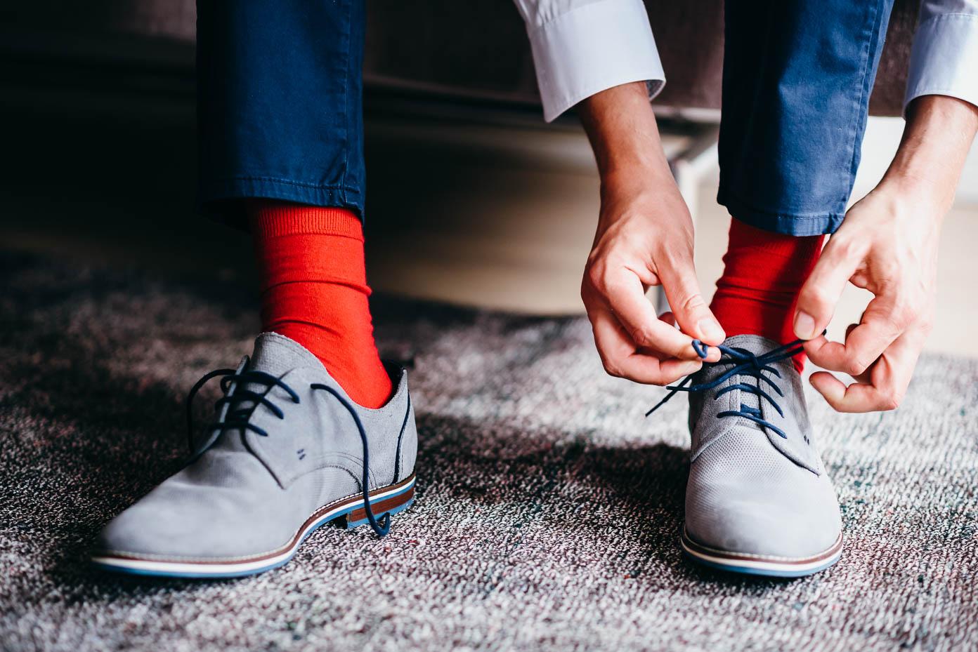 Rote Socken!