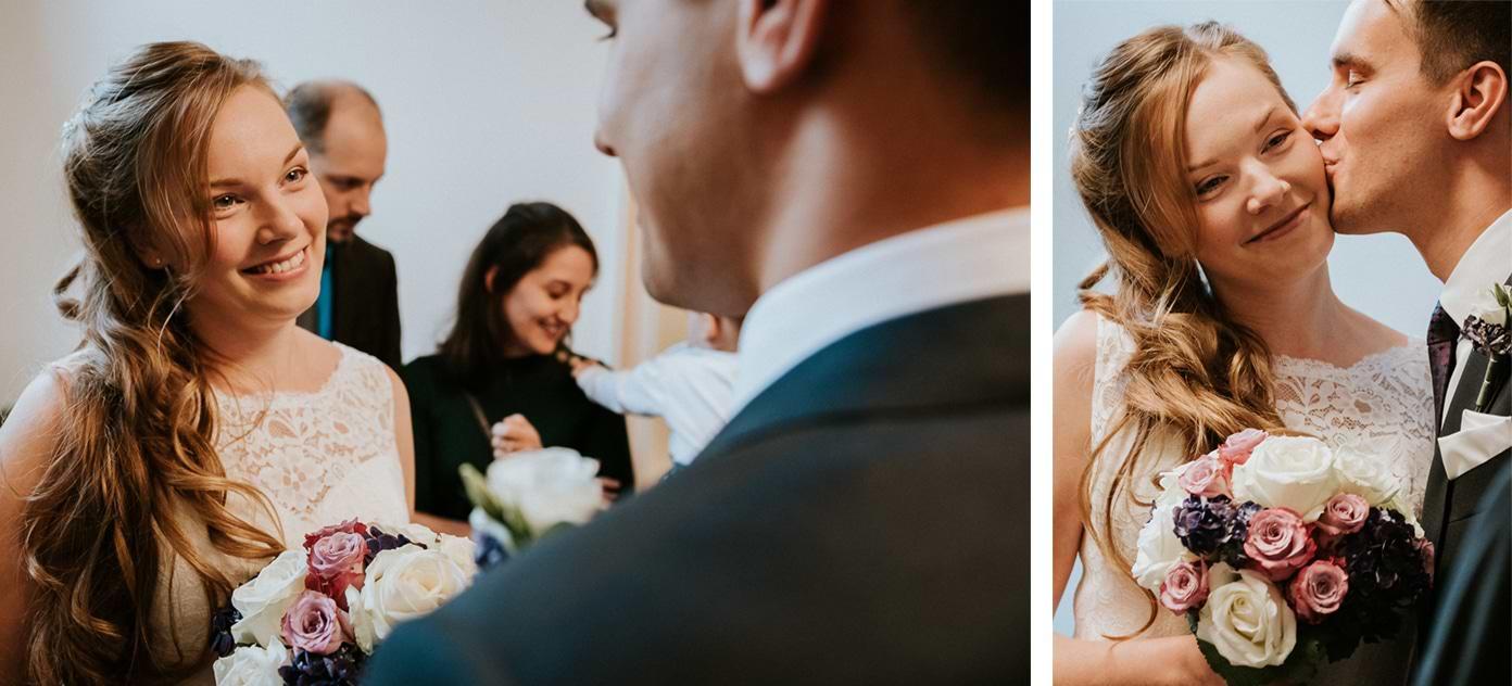 Braut und Bräutigam im Standesamt Schmargendorf