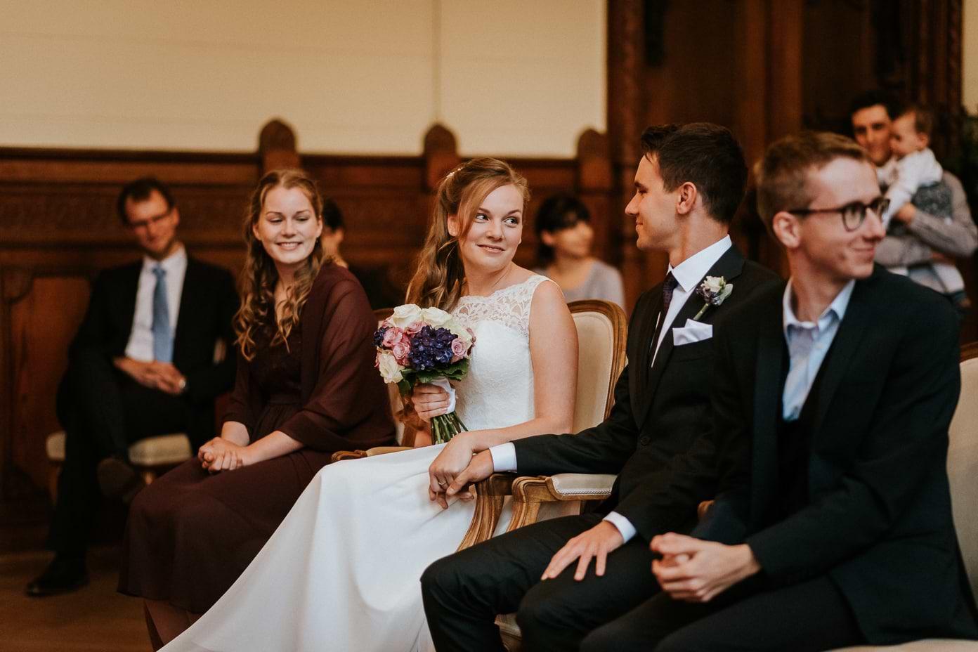 Brautpaar bei der Trauung in Schmargendorf