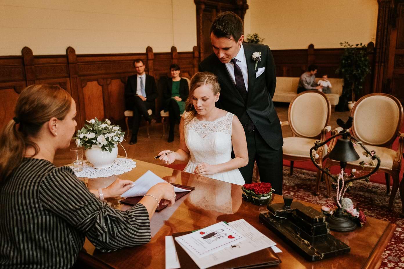 Unterschrift der Braut