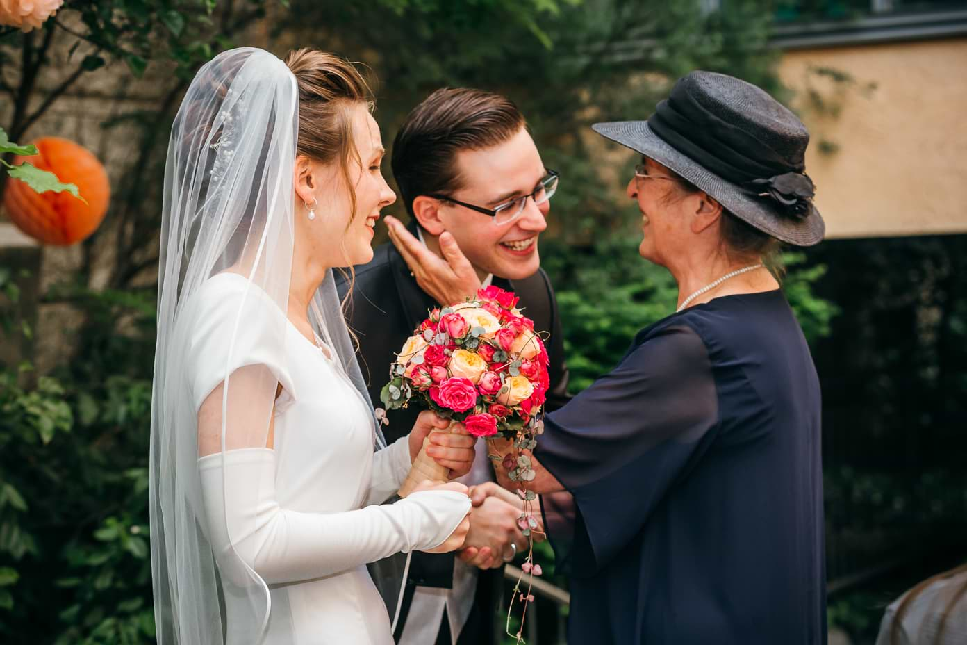 Gratualtionen an das Brautpaar