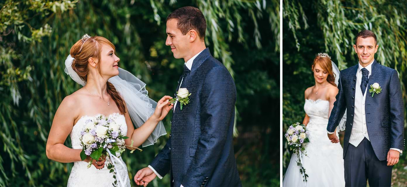 Paar nach der Heirat in Rangsdorf