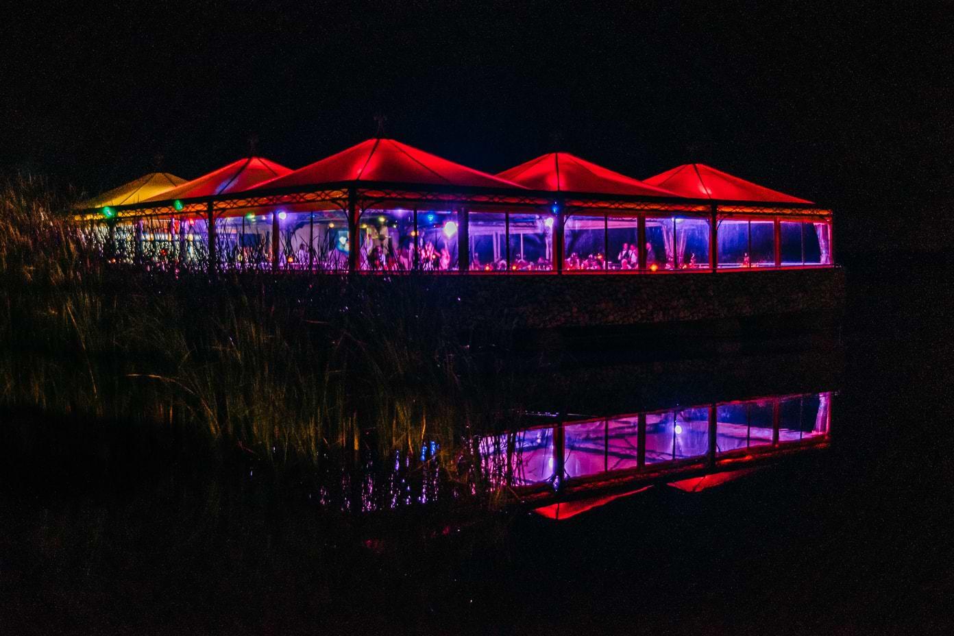 Insel Falkenstein bei Nacht