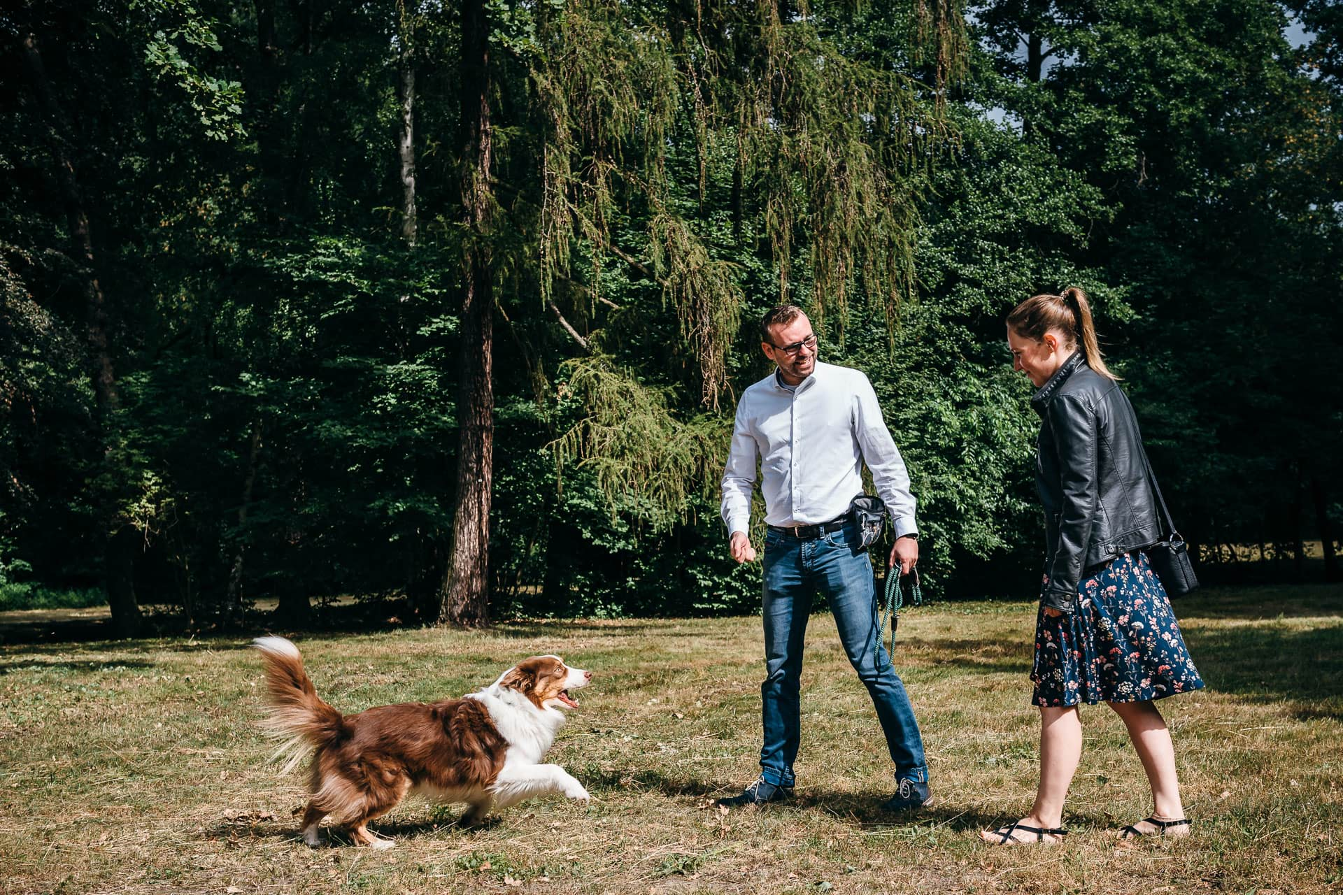 Engagement-Shooting mit Hund
