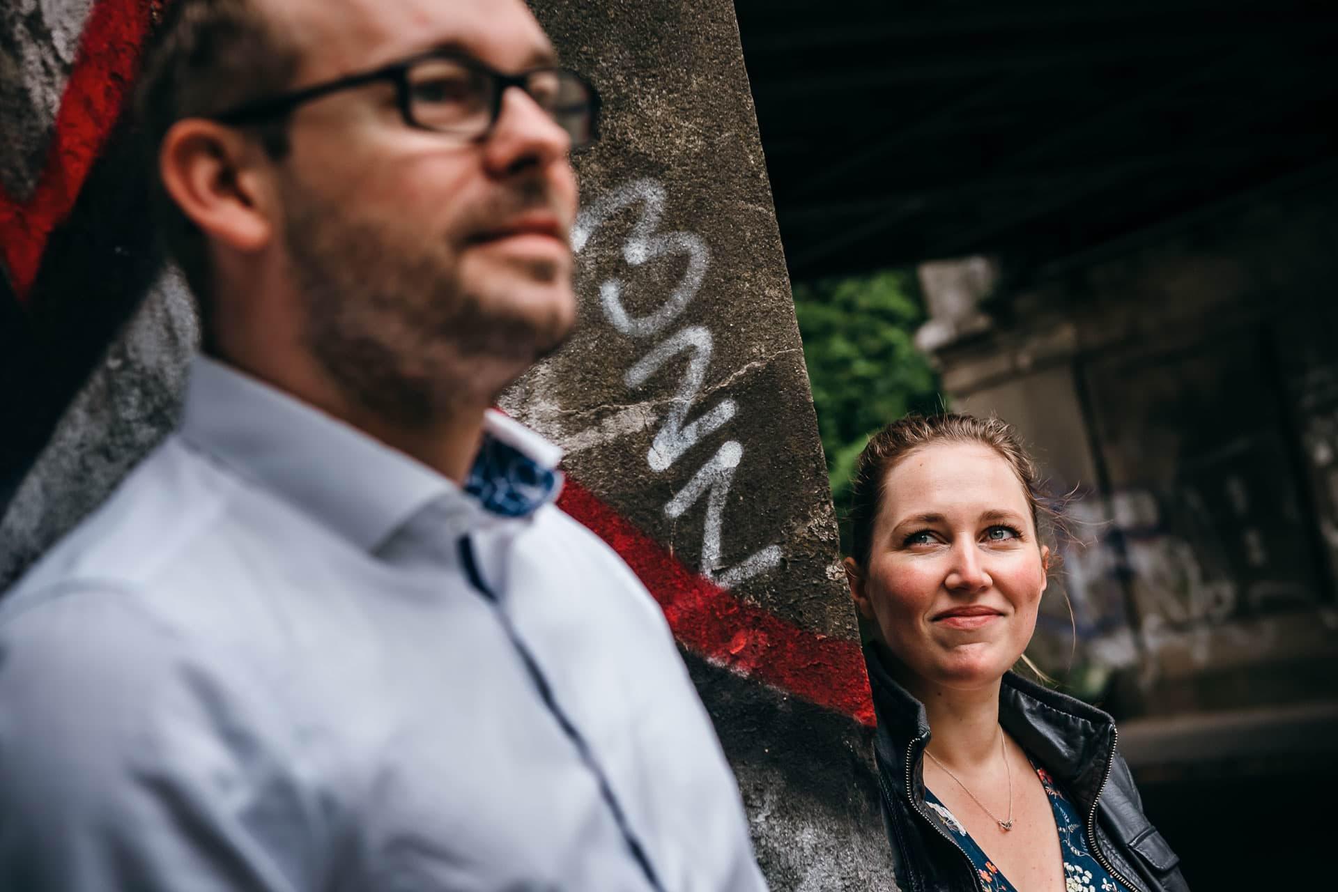 Paar mit Graffiti