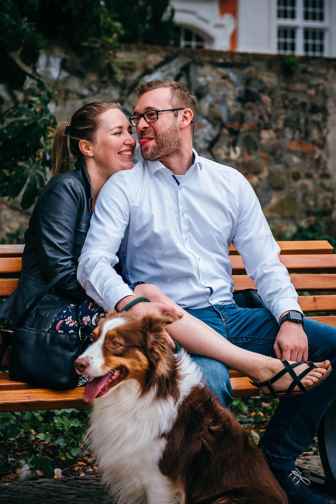 Verlobungs-Shooting mit Hund