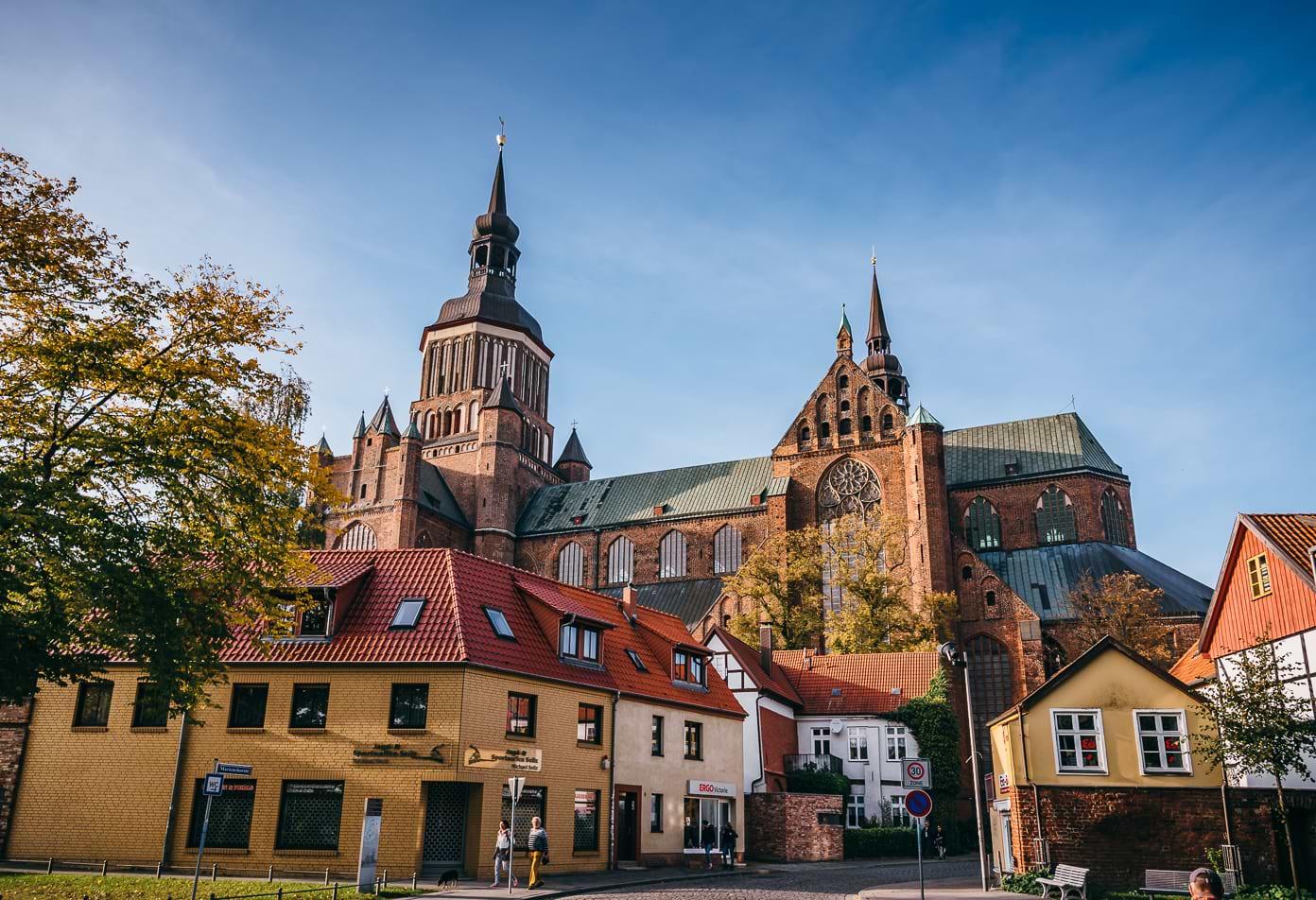 Stralsund Stadtpanorama mit Marienkirche