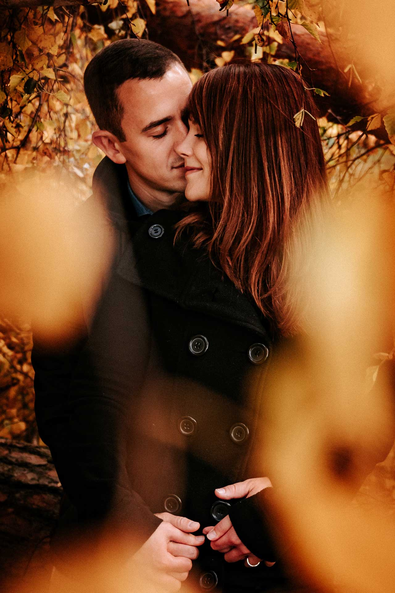Engagement-Shooting im Herbst