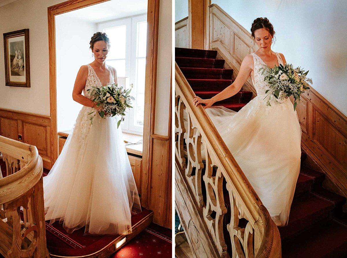 Braut verlässt Schloss Diedersdorf