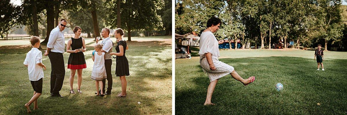 Hochzeitsgäste spielen