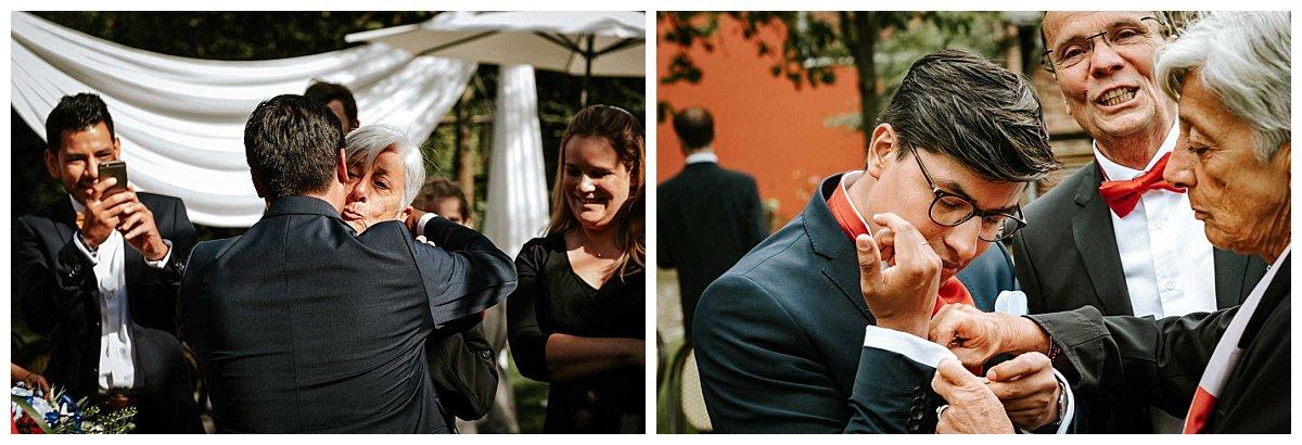 Momentaufnahmen der Hochzeitsgäste