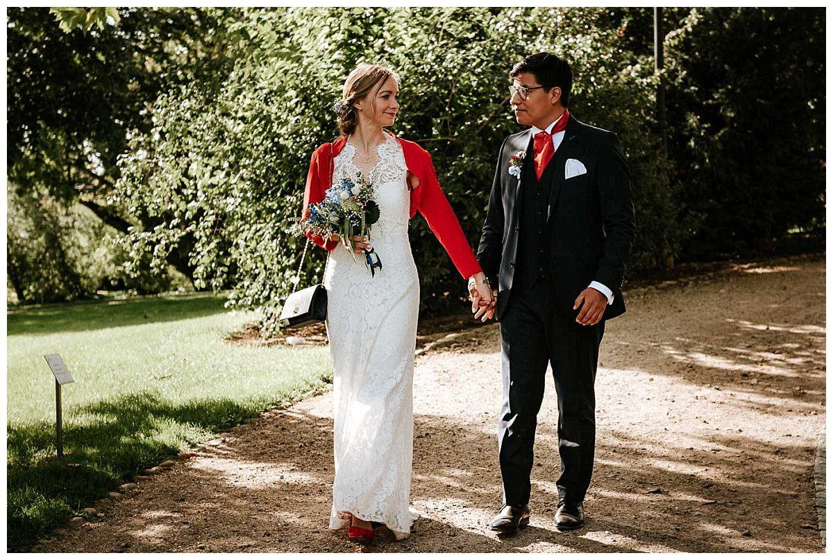 Brautpaar im Schlossgarten Schwerin
