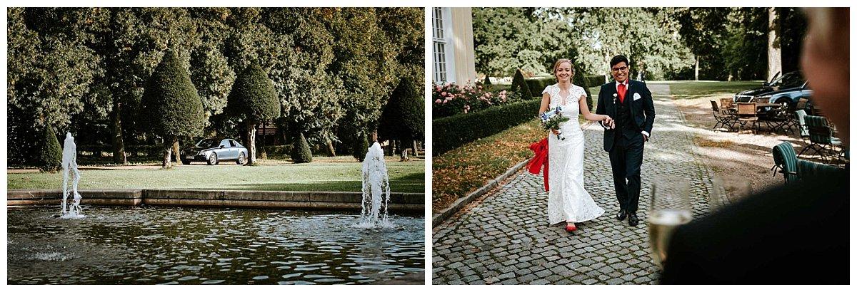 Ankunft des Brautpaares auf Schloss Hasenwinkel