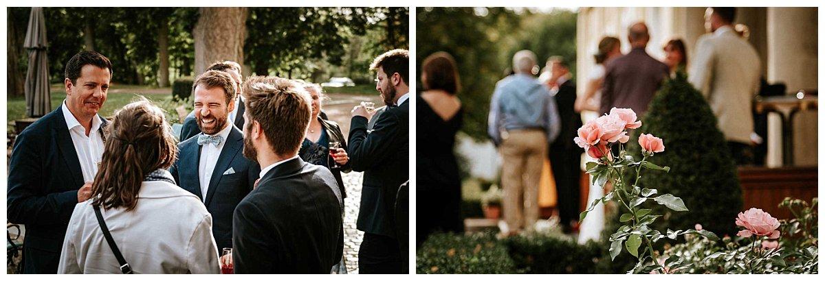 Hochzeitsgäste auf Schloss Hasenwinkel
