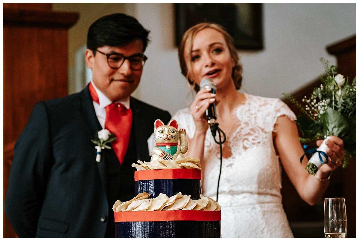 Begrüßungsansprache des Brautpaares