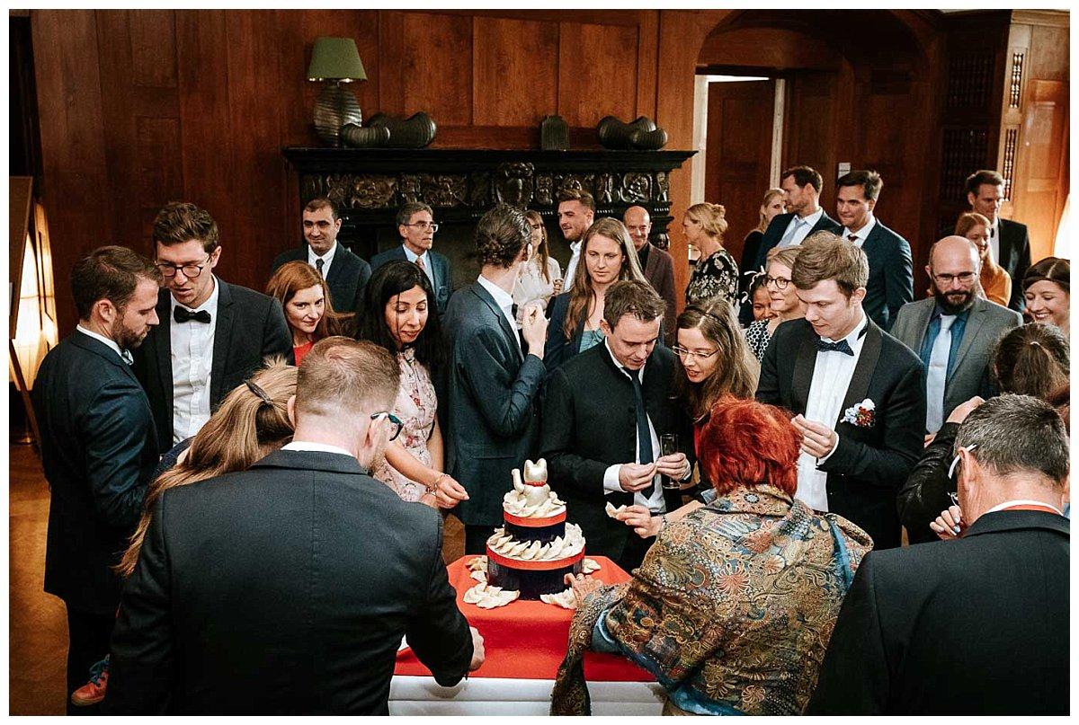 Hochzeitsgesellschaft auf Schloss Hasenwinkel